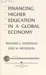 Cover of: Financing higher education in a global economy |
