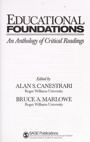 Cover of: Educational foundations |