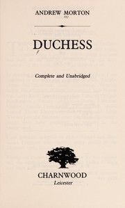 Cover of: Duchess