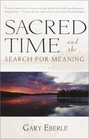 Cover of: Sacred time and the search for meaning