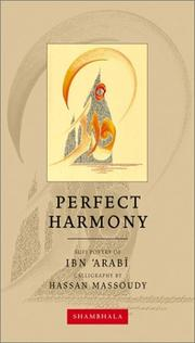 Cover of: Perfect Harmony (Calligrapher's Notebooks)