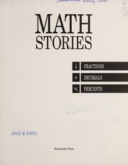 Cover of: Math stories | Joyce Scinto