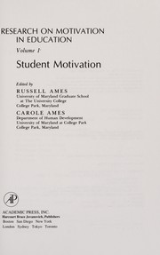 Cover of: Research on Motivation in Education | Carole Ames