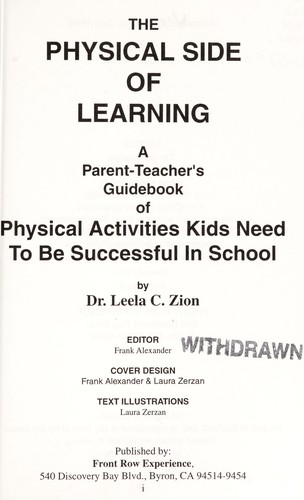 The physical side of learning by Leela C. Zion