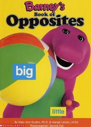 Cover of: Barney's book of opposites