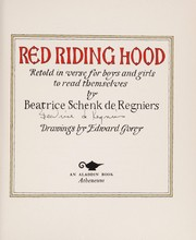 Cover of: Red Riding Hood |