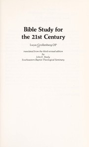 Cover of: Bible study for the 21st century | Lucas Hendricus Grollenberg