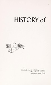 Cover of: History of mathematics