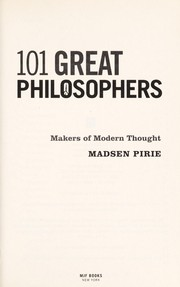 Cover of: 101 great philosophers