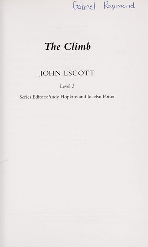 The climb by John Escott