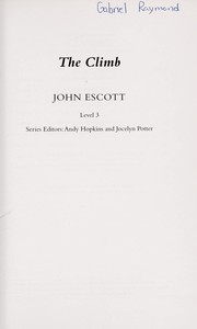 Cover of: The climb | John Escott