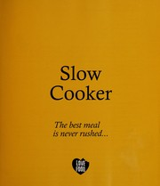 Cover of: Slow cooker