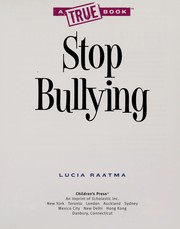 Cover of: Stop bullying | Lucia Raatma