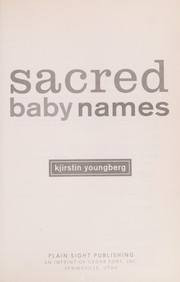 Cover of: Sacred baby names