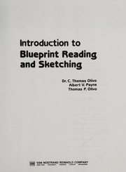 Cover of: Introduction to blueprint reading and sketching