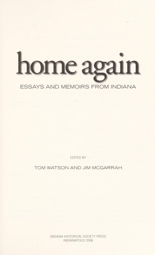 Home again by edited by Tom Watson and Jim McGarrah.