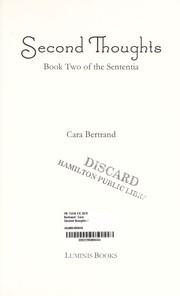 Cover of: Second thoughts | Cara Bertrand