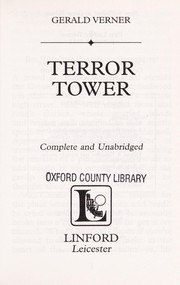 Cover of: Terror tower | Gerald Verner