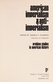 Cover of: American imperialism & anti-imperialism
