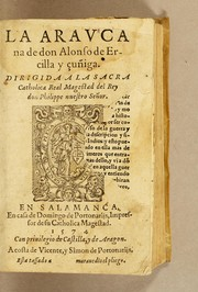 Cover of: La Araucana de don Alonso de Ercilla y Çuñiga