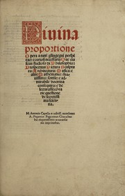 Cover of: Diuina proportione