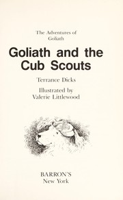 Cover of: Goliath and the Cub Scouts | Terrance Dicks