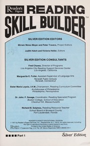 Cover of: Reading Skill Builder (Silver Edition, Brown) |