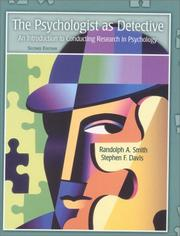 Cover of: The Psychologist as Detective