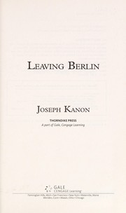 Cover of: Leaving Berlin