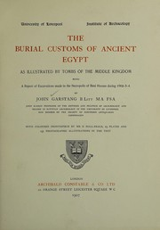 Cover of: The burial customs of ancient Egypt