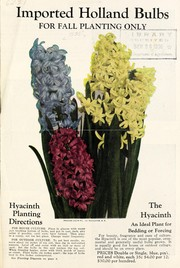 Cover of: Imported Holland bulbs for fall planting only [bulletin and price list]
