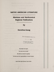 Cover of: Native American literature