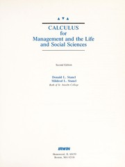 Cover of: Calculus for management and the life and social sciences | Donald L. Stancl