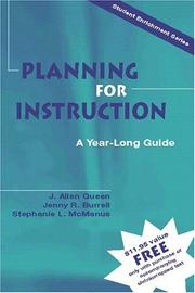 Cover of: Planning for Instruction | J. Allen Queen