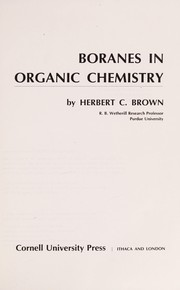 Cover of: Boranes in organic chemistry