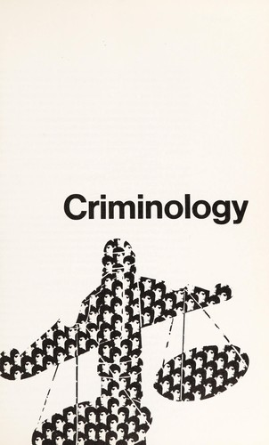 Criminology by Edwin Hardin Sutherland