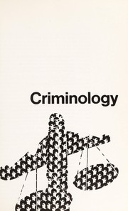 Cover of: Criminology | Edwin Hardin Sutherland