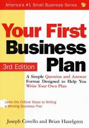 Cover of: Your first business plan