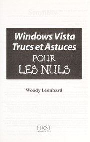 Cover of: Windows Vista, trucs et astuces