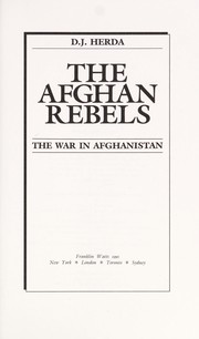 Cover of: The Afghan Rebels