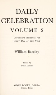 Cover of: Everyday with William Barclay
