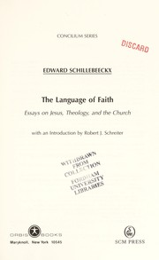 Cover of: The language of faith