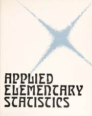 Cover of: Applied elementary statistics