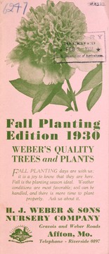 Cover of: Fall planting | H.J. Weber & Sons Nursery Company