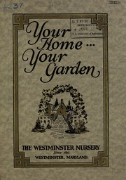 Cover of: Your home ... your garden [catalog]