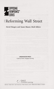 Cover of: Reforming Wall Street | David M. Haugen