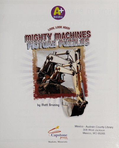 Mighty machines picture puzzles by Matt Bruning