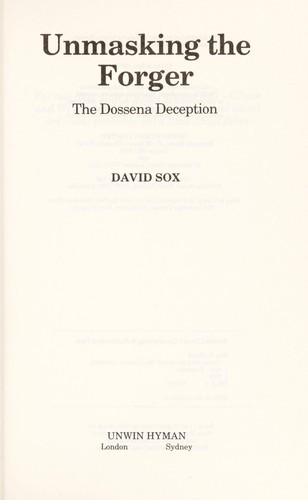 Unmasking the forger by H. David Sox
