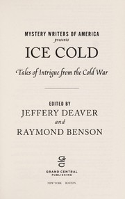 Cover of: Mystery Writers of America presents ice cold