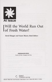 Cover of: Will the world run out of fresh water?